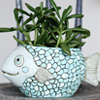 D 1740 BLUE FISH planter