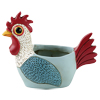 DB 2083 L.blue BABY ROOSTER planter